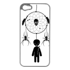Voodoo Dream Catcher  Apple Iphone 5 Case (silver) by Valentinaart