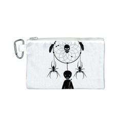 Voodoo Dream Catcher  Canvas Cosmetic Bag (s) by Valentinaart