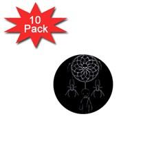 Voodoo Dream Catcher  1  Mini Magnet (10 Pack)  by Valentinaart