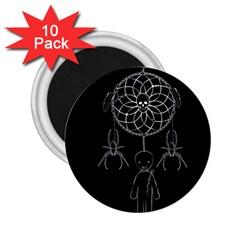 Voodoo Dream Catcher  2 25  Magnets (10 Pack)  by Valentinaart