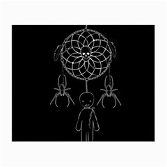 Voodoo Dream Catcher  Small Glasses Cloth (2 Side) by Valentinaart