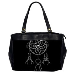 Voodoo Dream Catcher  Office Handbags (2 Sides)  by Valentinaart