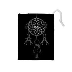 Voodoo Dream Catcher  Drawstring Pouches (medium)  by Valentinaart