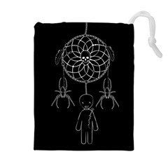 Voodoo Dream Catcher  Drawstring Pouches (extra Large) by Valentinaart