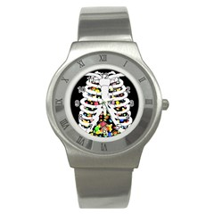 Trick Or Treat  Stainless Steel Watch by Valentinaart
