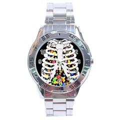 Trick Or Treat  Stainless Steel Analogue Watch by Valentinaart