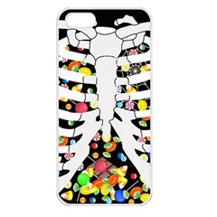 Trick Or Treat  Apple Iphone 5 Seamless Case (white) by Valentinaart