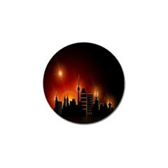 Gold Golden Skyline Skyscraper Golf Ball Marker (10 Pack) by BangZart