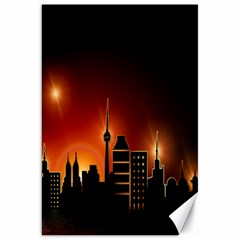 Gold Golden Skyline Skyscraper Canvas 20  X 30   by BangZart