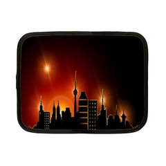 Gold Golden Skyline Skyscraper Netbook Case (small)  by BangZart