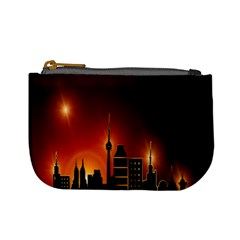Gold Golden Skyline Skyscraper Mini Coin Purses