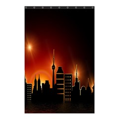 Gold Golden Skyline Skyscraper Shower Curtain 48  X 72  (small)  by BangZart