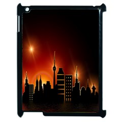 Gold Golden Skyline Skyscraper Apple Ipad 2 Case (black)