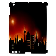 Gold Golden Skyline Skyscraper Apple Ipad 3/4 Hardshell Case (compatible With Smart Cover) by BangZart