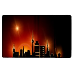Gold Golden Skyline Skyscraper Apple Ipad 3/4 Flip Case by BangZart