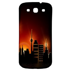 Gold Golden Skyline Skyscraper Samsung Galaxy S3 S Iii Classic Hardshell Back Case by BangZart
