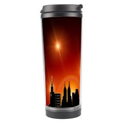 Gold Golden Skyline Skyscraper Travel Tumbler by BangZart