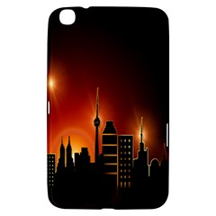 Gold Golden Skyline Skyscraper Samsung Galaxy Tab 3 (8 ) T3100 Hardshell Case