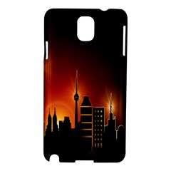 Gold Golden Skyline Skyscraper Samsung Galaxy Note 3 N9005 Hardshell Case