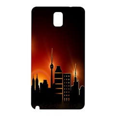 Gold Golden Skyline Skyscraper Samsung Galaxy Note 3 N9005 Hardshell Back Case