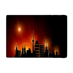 Gold Golden Skyline Skyscraper Ipad Mini 2 Flip Cases