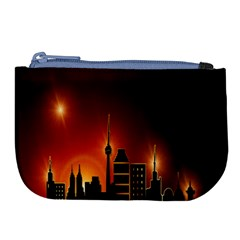Gold Golden Skyline Skyscraper Large Coin Purse by BangZart