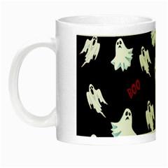 Ghost Pattern Night Luminous Mugs by Valentinaart