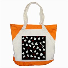 Ghost Pattern Accent Tote Bag by Valentinaart