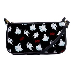 Ghost Pattern Shoulder Clutch Bags by Valentinaart