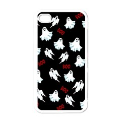 Ghost Pattern Apple Iphone 4 Case (white) by Valentinaart