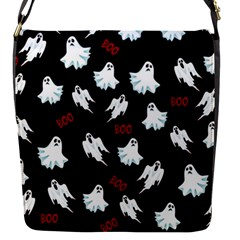 Ghost Pattern Flap Messenger Bag (s) by Valentinaart