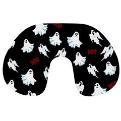 Ghost Pattern Travel Neck Pillows by Valentinaart