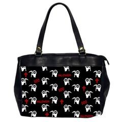 Death Pattern   Halloween Office Handbags (2 Sides)  by Valentinaart