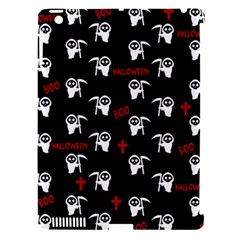 Death Pattern   Halloween Apple Ipad 3/4 Hardshell Case (compatible With Smart Cover) by Valentinaart