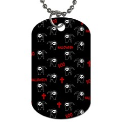 Death Pattern   Halloween Dog Tag (two Sides) by Valentinaart