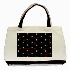 Death Pattern   Halloween Basic Tote Bag by Valentinaart