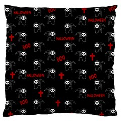 Death Pattern   Halloween Large Flano Cushion Case (one Side) by Valentinaart