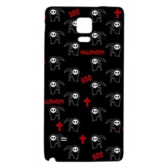 Death Pattern   Halloween Galaxy Note 4 Back Case by Valentinaart