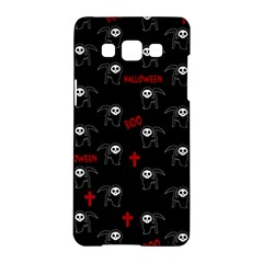 Death Pattern   Halloween Samsung Galaxy A5 Hardshell Case  by Valentinaart