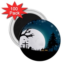 Halloween Landscape 2 25  Magnets (100 Pack)  by Valentinaart