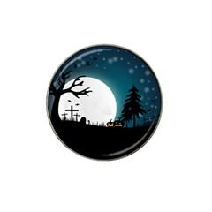Halloween Landscape Hat Clip Ball Marker by Valentinaart