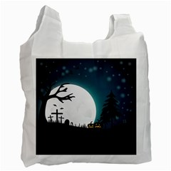 Halloween Landscape Recycle Bag (two Side)  by Valentinaart