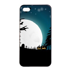 Halloween Landscape Apple Iphone 4/4s Seamless Case (black) by Valentinaart