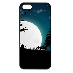 Halloween Landscape Apple Iphone 5 Seamless Case (black) by Valentinaart