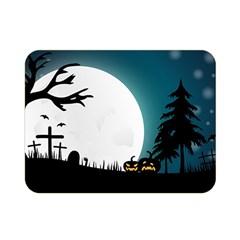 Halloween Landscape Double Sided Flano Blanket (mini)  by Valentinaart
