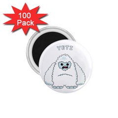 Yeti 1 75  Magnets (100 Pack)  by Valentinaart