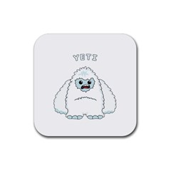Yeti Rubber Square Coaster (4 Pack)  by Valentinaart