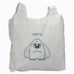 Yeti Recycle Bag (one Side) by Valentinaart
