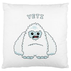 Yeti Large Cushion Case (two Sides) by Valentinaart