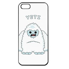 Yeti Apple Iphone 5 Seamless Case (black) by Valentinaart